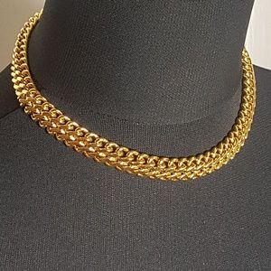 Monet Gold Choker Necklace